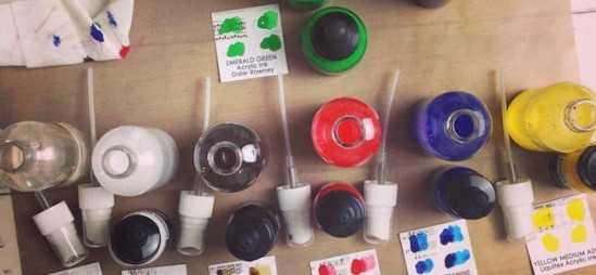 How To Make Acrylic Ink Sprays