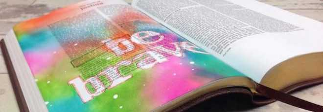 Distress Ink Blending - Bible Art Journaling Challenge Week 1