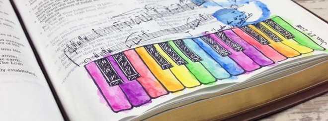 Shout Joyfully - Bible Art Journaling Challenge Week 4