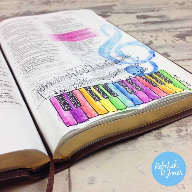 Shout Joyfully - Bible Art Journaling Challenge Lesson 4