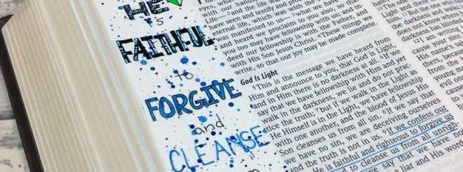 Bible Art Journaling Challenge Week 10 – Hand Lettering