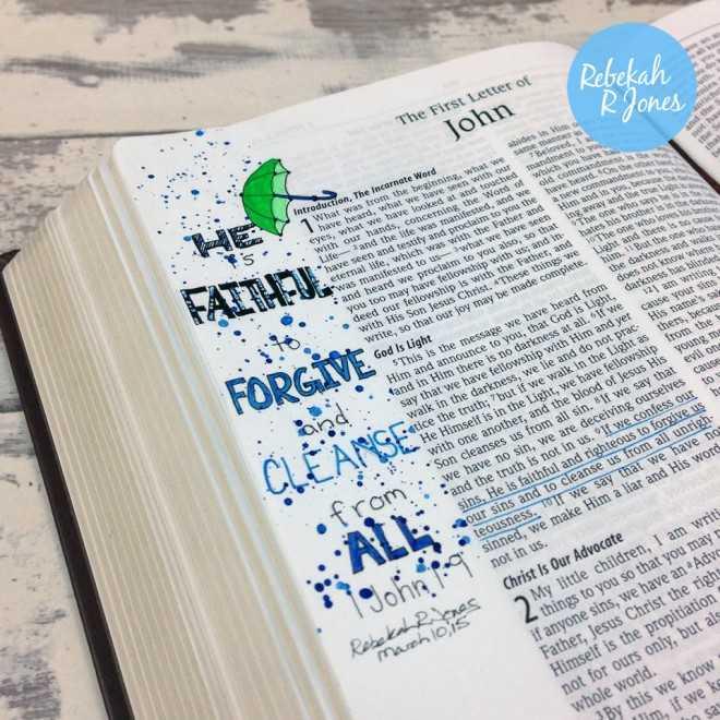Bible Art Journaling Challenge - Week 10