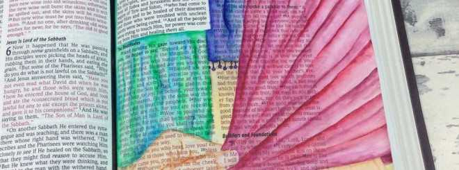 Inktense Pencils Tutorial - Bible Art Journaling Challenge Week 12