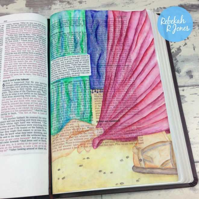 Inktense Pencils Tutorial - Bible Art Journaling Challenge Week 12