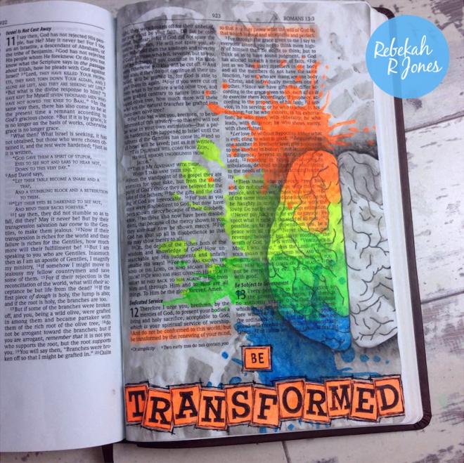 Bible Art Journaling Challenge Week 13