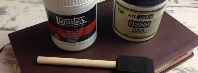 clear gesso matte gel medium