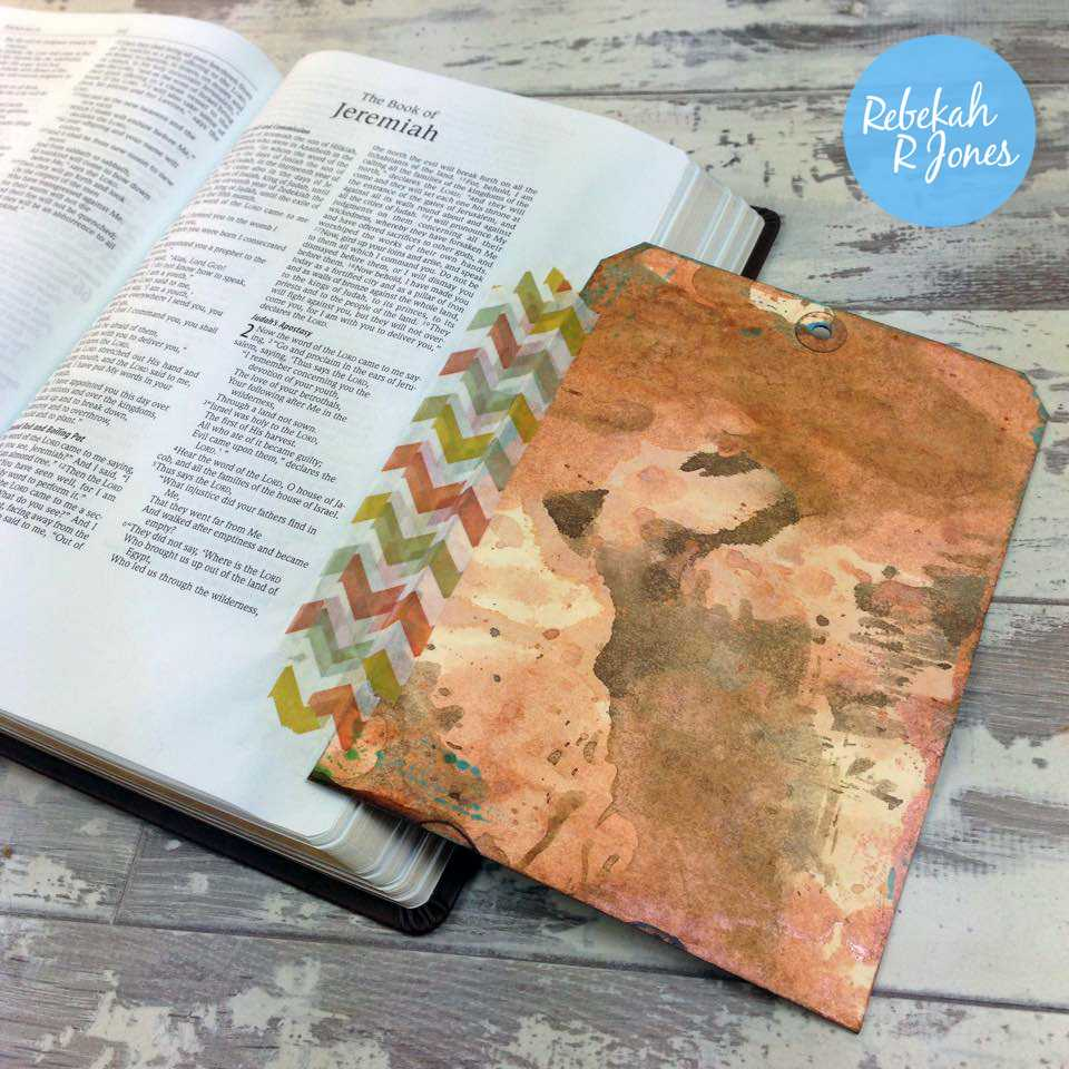 Bible Art Journaling Challenge Week 15 - Mixed Media Tag