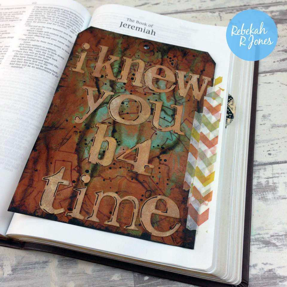 Bible Art Journaling Challenge Week 15 - Mixed Media Tag