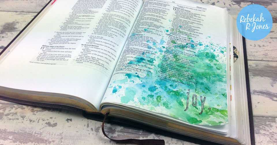 Bible Art Journaling Challenge Week 22