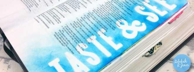 Bible Art Journaling Challenge Week 26