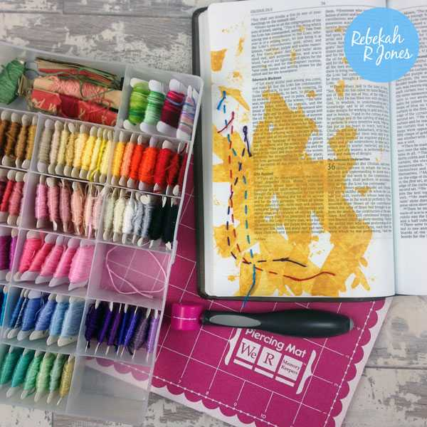 Bible Art Journaling Challenge Week 23 - We R Memory Keepers Sew Easy tutorial