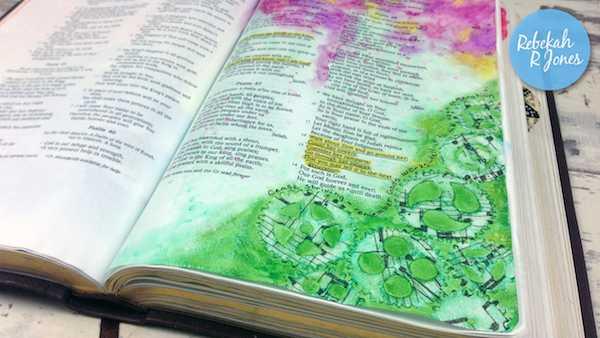 Gansai Tambi Watercolor + Faber-Castell Pitt Pens - Bible Art Journaling Challenge Week 24 - Rebekah R Jones