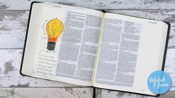 Bible Art Journaling Challenge Week 30