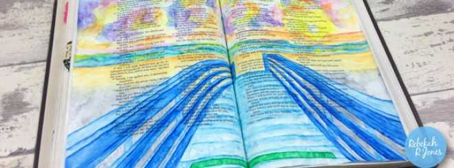 Paint A Bridge With Inktense Pencils – Bible Art Journaling Challenge Week 29
