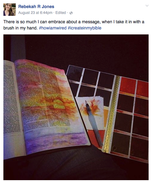 Mark 6 bible art journaling by Rebekah R Jones