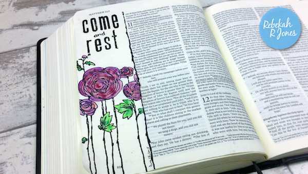 Bible Art Journaling Challenge Week 33