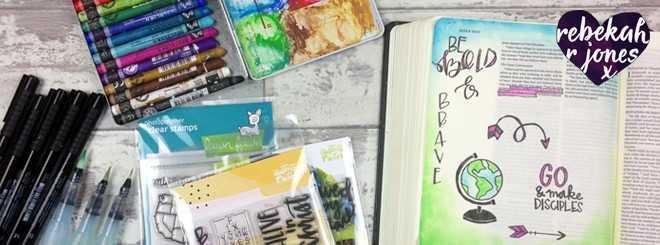 Neocolor II Coloring - Bible Art Journaling Challenge Week 38