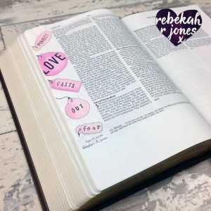 Bible Art Journaling Challenge Week 7 – Perfect Love