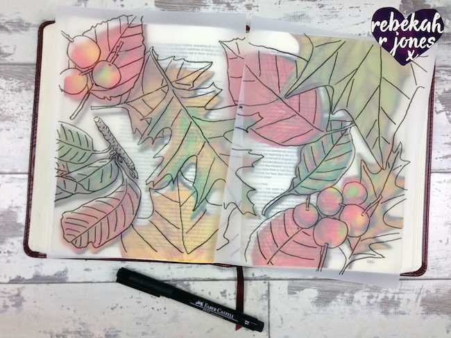 How to Paint & Color Autumn Leaves - Bible Art Journaling Challenge Week 43