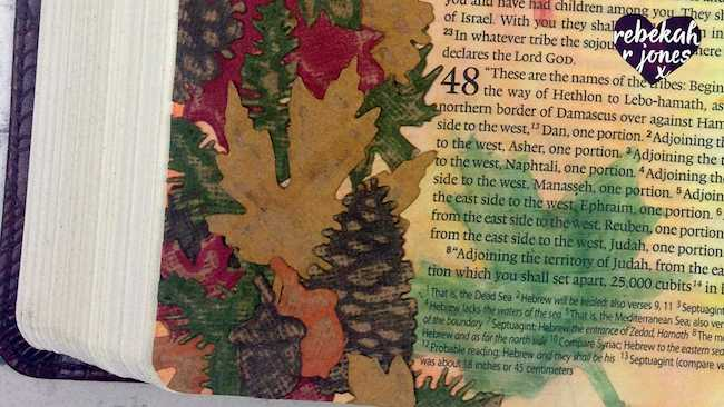 Die Cut & Emboss Collage - Bible Art Journaling Challenge Week 39