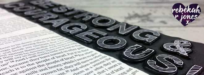 Chipboard Stickers On The Margin - Bible Art Journaling Challenge Week 45