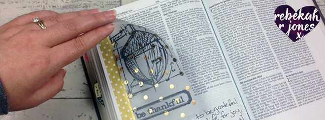 Stamping On Vellum - Bible Art Journaling Challenge Week 46