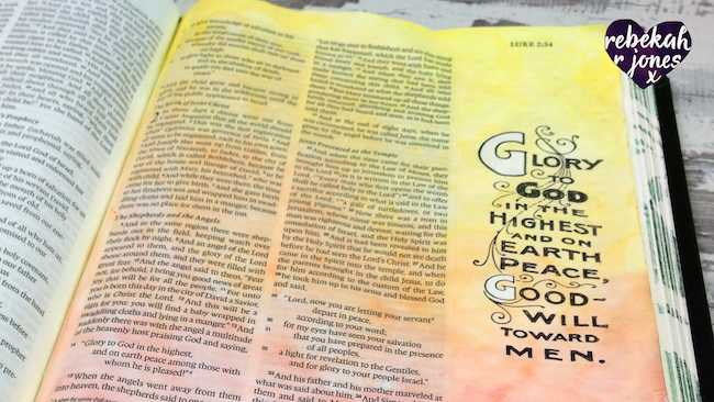 Masking Fluid and Stamping - Bible Art Journaling Challenge Week 49