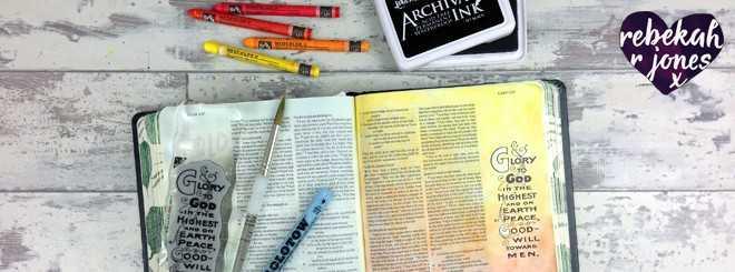 Masking Fluid and Stamping – Bible Art Journaling Challenge Week 49
