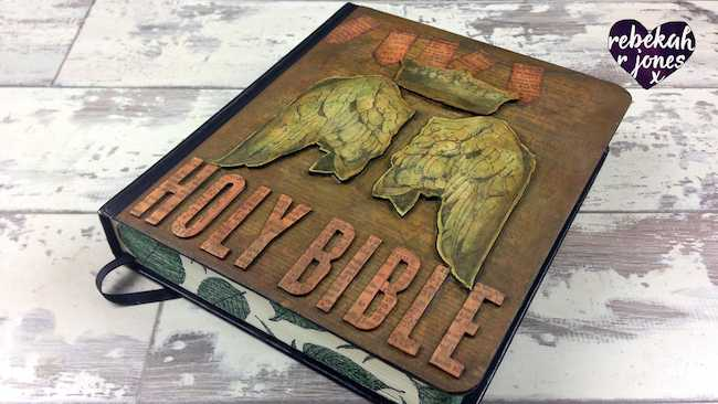 Altered Book Cover Tutorial - Bible Art Journaling Challenge Week 52