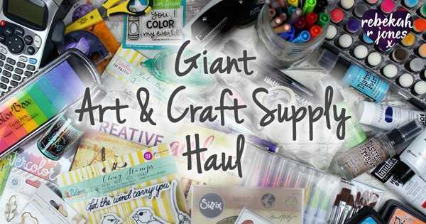 Giant Art & Craft Supply Haul
