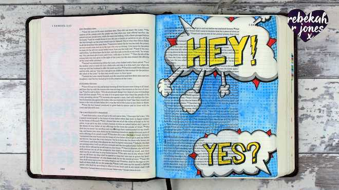 Heaven Is Calling Lesson 3 - A Bible Art Journaling Challenge Series