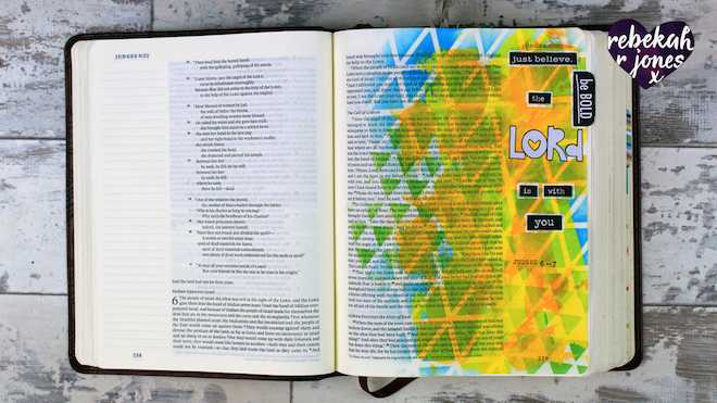 Heaven Is Calling Lesson 4 - A Bible Art Journaling Challenge Series