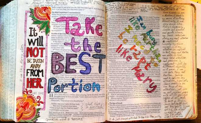 Barbara Rademacher - Bible Art Journaling Challenge Participant Journaling Bible Entry