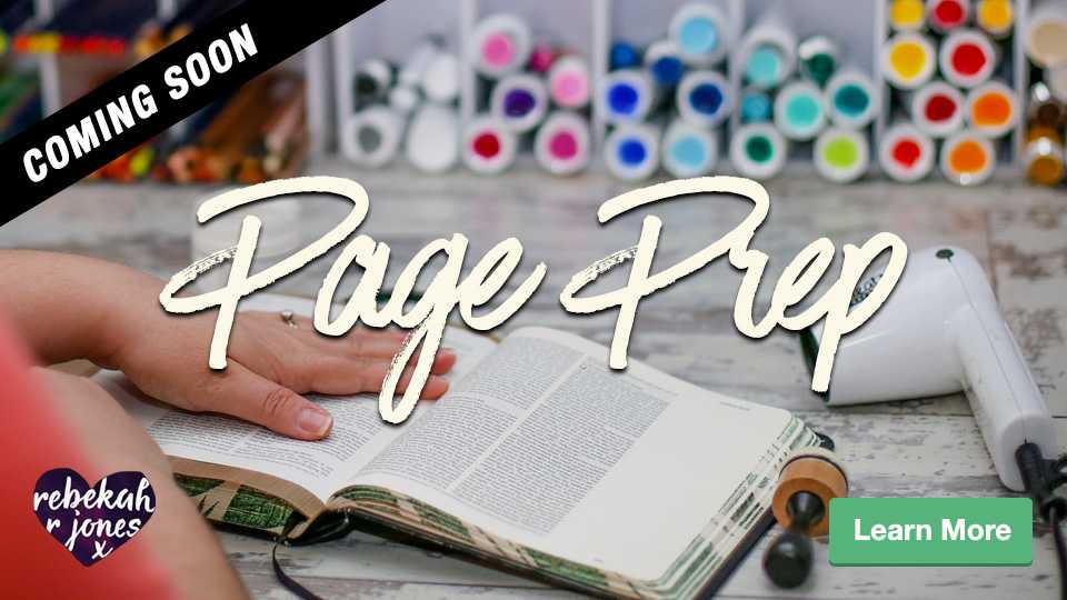 Bible Journaling Page Prep Course by Rebekah R Jones
