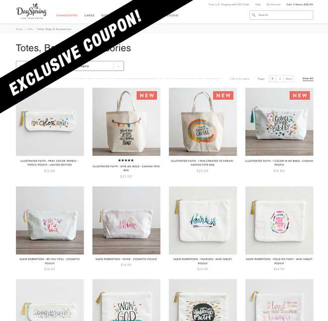 Exclusive Dayspring Pouch Sale