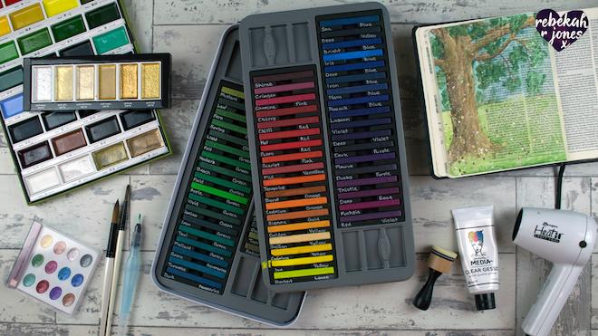 Pearlescent Watercolor Inktense Deeper Still Lesson 6
