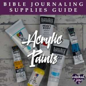 Bible Journaling Supplies Acrylic Paints