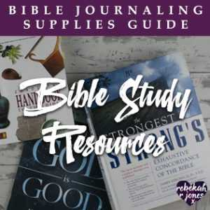 Bible Journaling Supplies Bible Study Resources
