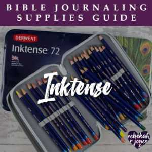 Bible Journaling Inktense