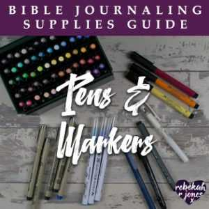 Bible Journaling Supplies Pens and Markers