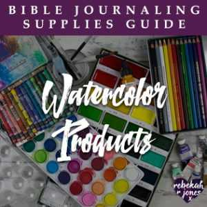 Bible Journaling Supplies Watercolor Products
