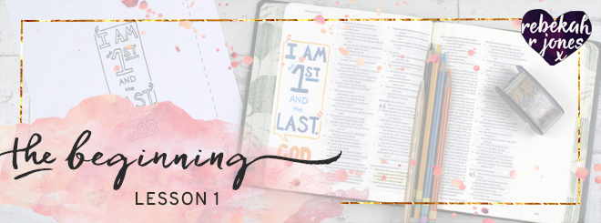 The Beginning Bible Art Journaling Challenge Lesson 1