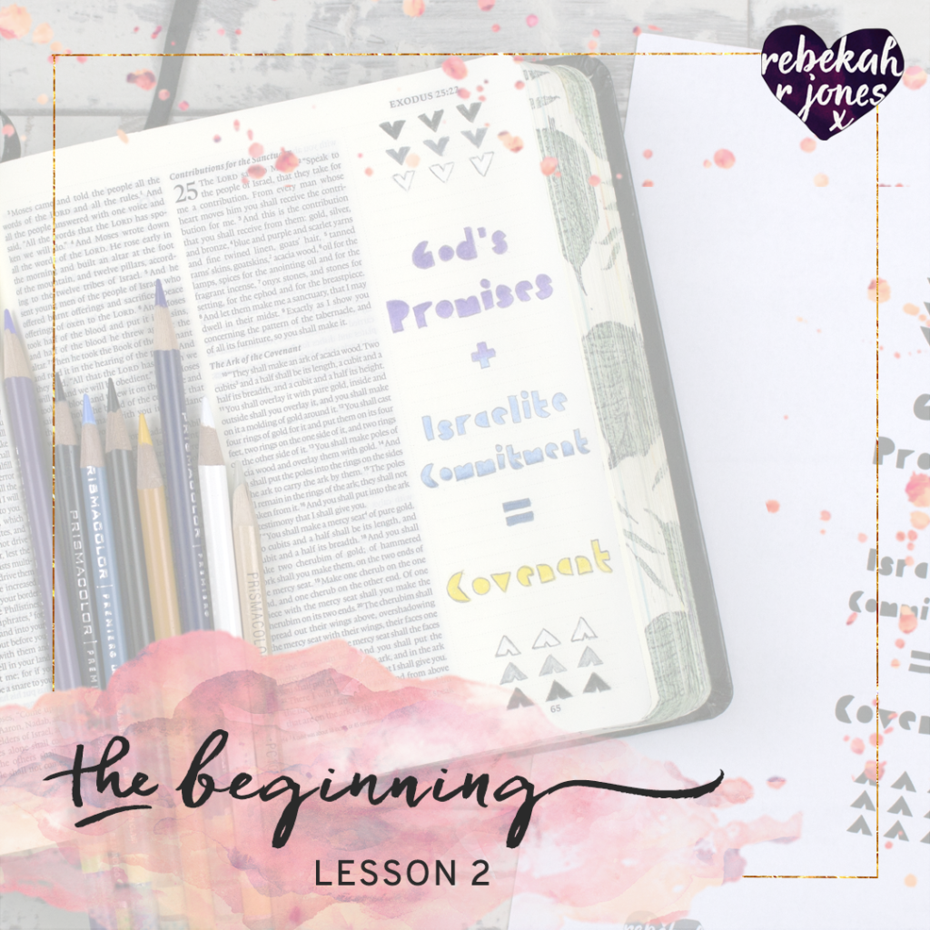 The Beginning Bible Art Journaling Challenge Lesson 2