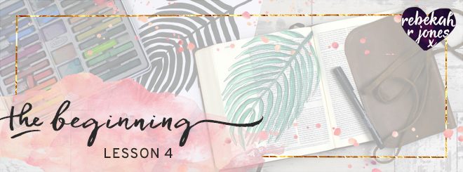 The Beginning Bible Art Journaling Challenge Lesson 4