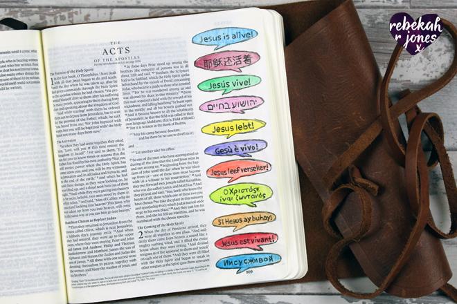 The Beginning Bible Art Journaling Challenge Lesson 5