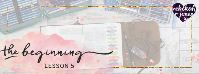 The Beginning Bible Art Journaling Challenge Lesson 5