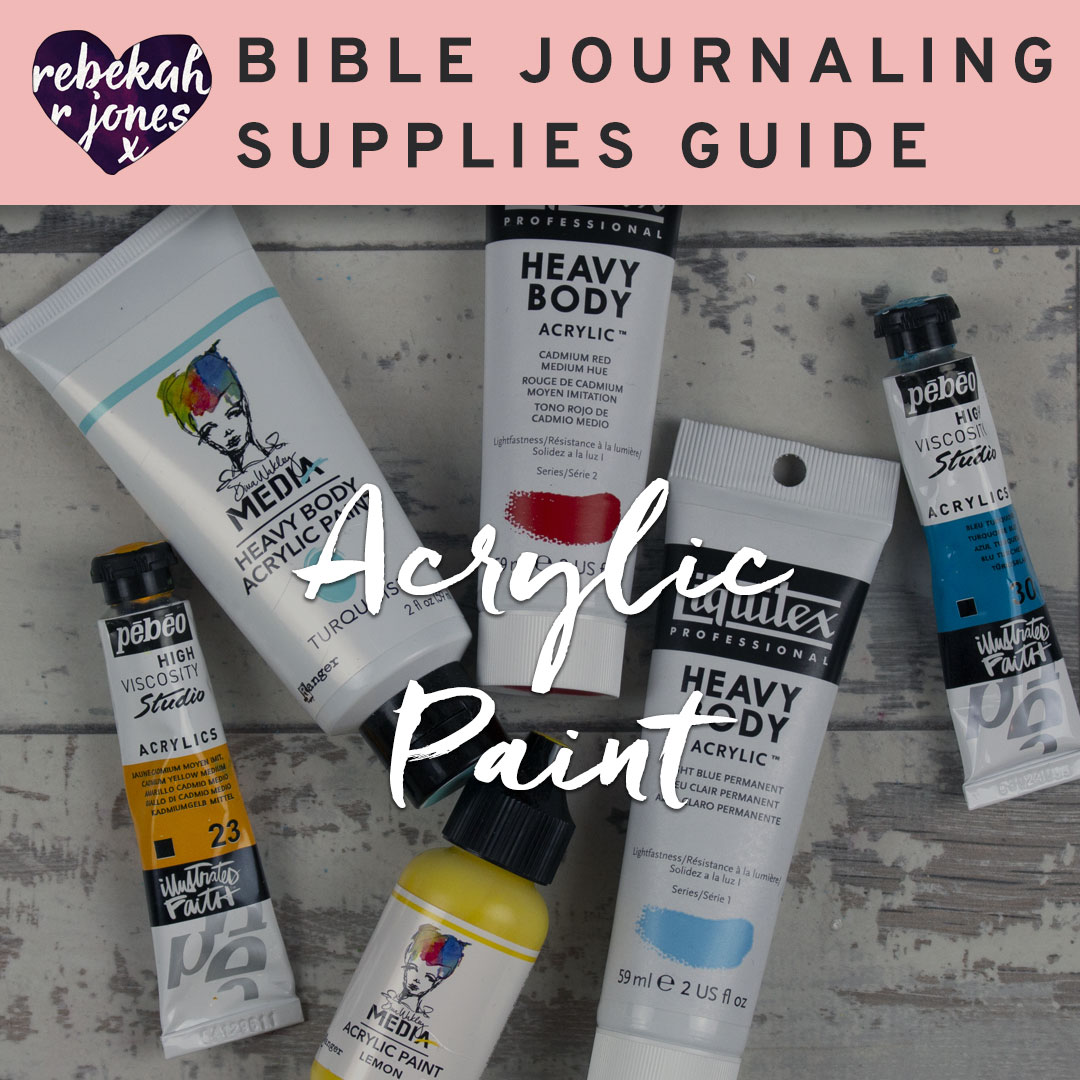 Bible Journaling Acrylic Paints