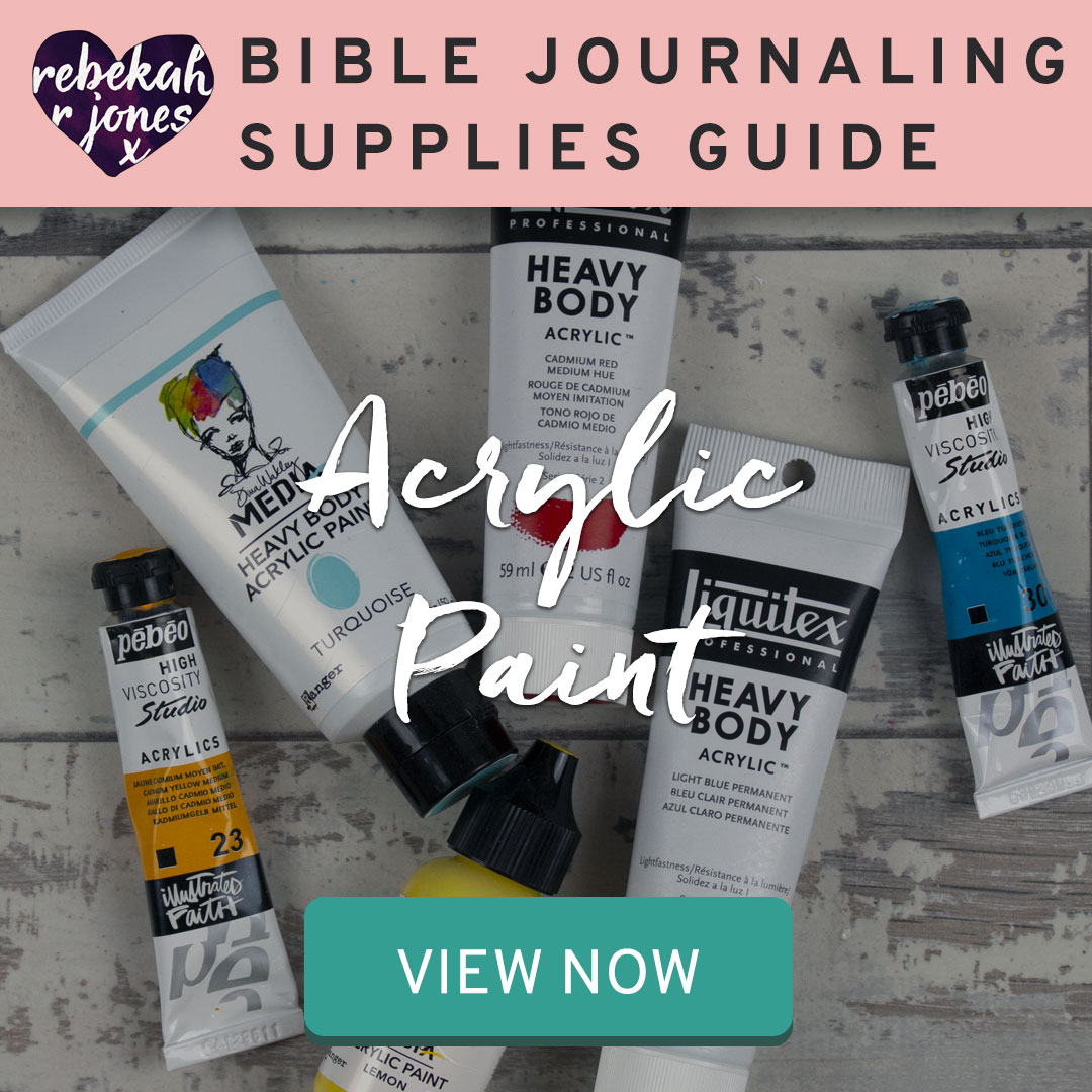 Bible Journaling Supplies Acrylic Paints