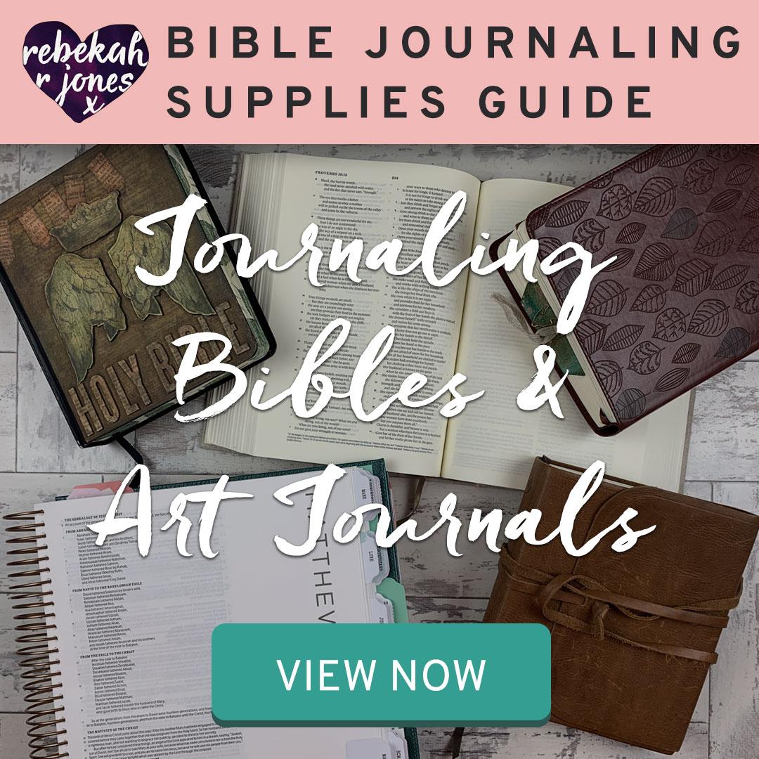 Journaling Bibles and Art Journals