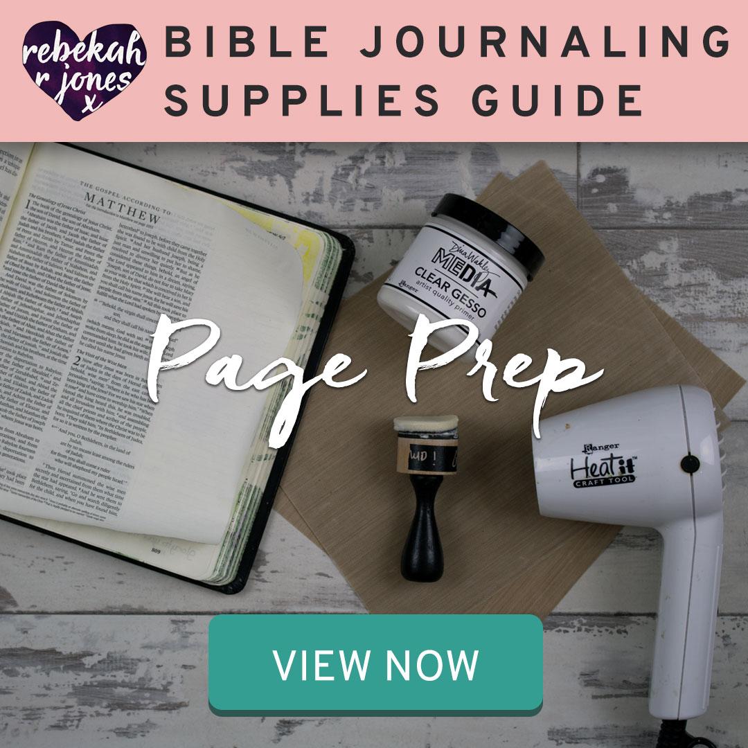 Bible Journaling Supplies Page Prep